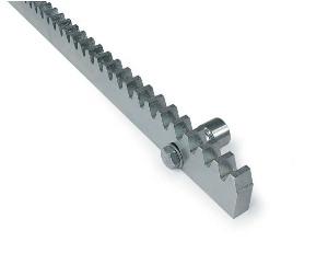 Метална зъбна рейка с крепежи за монтаж